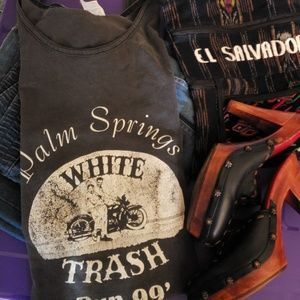 Vintage White Trash Run 99' Tank
